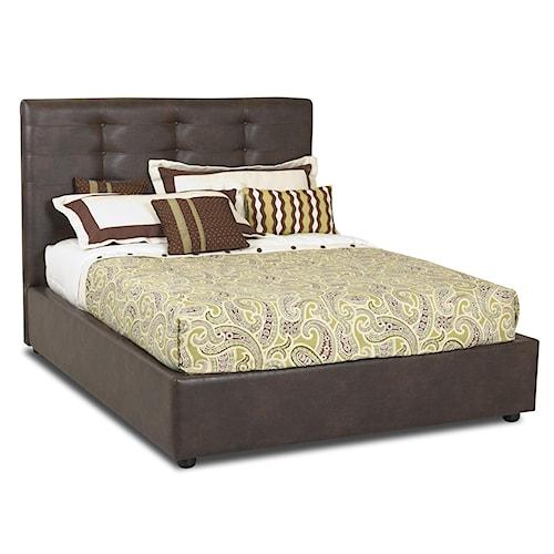 Klaussner Hudson  Queen Platform Bed with Upholsterd Headboard