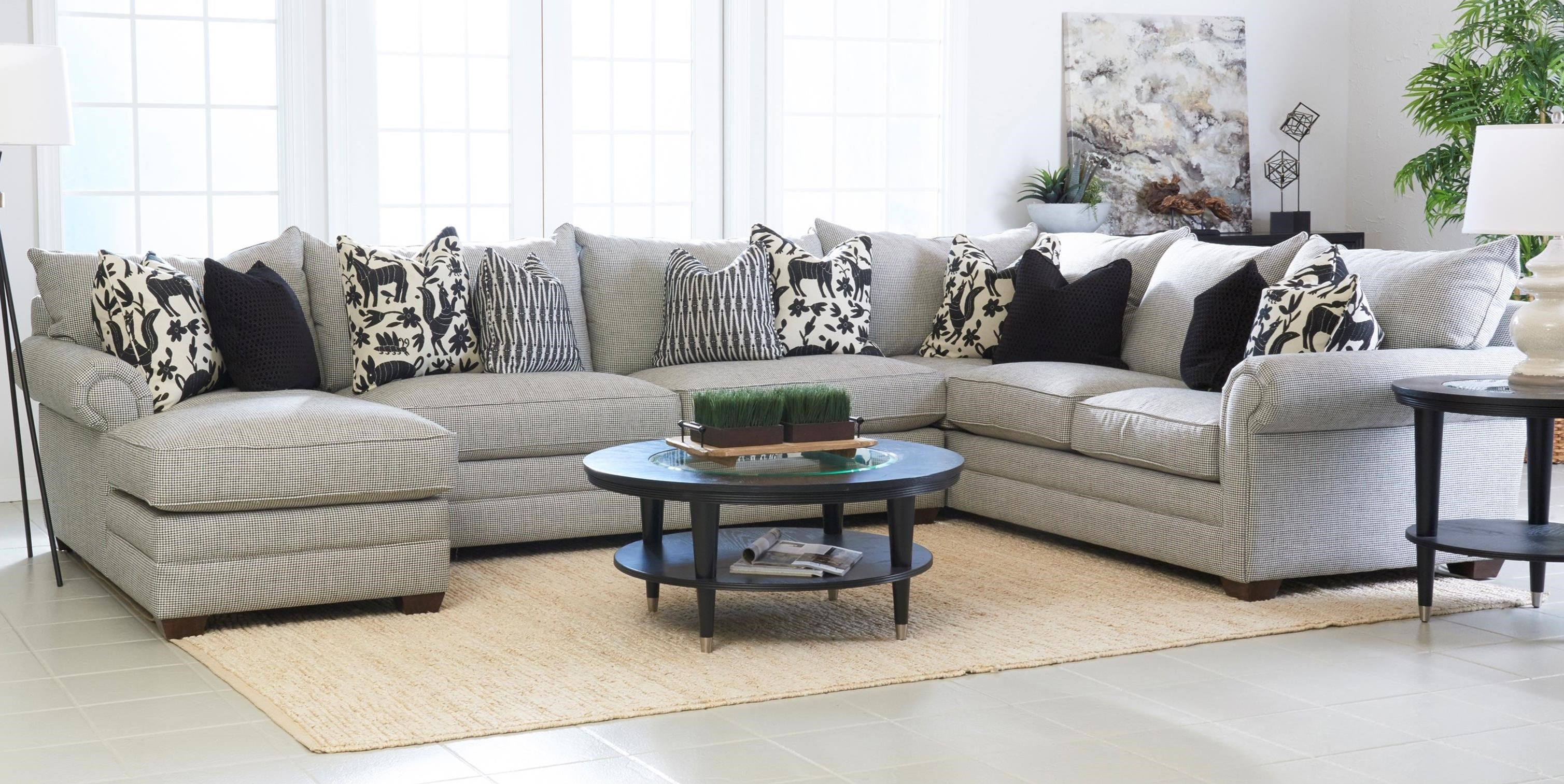 Elliston Place Huntley4 Pc Sectional Sofa W/ LAF Chaise ...
