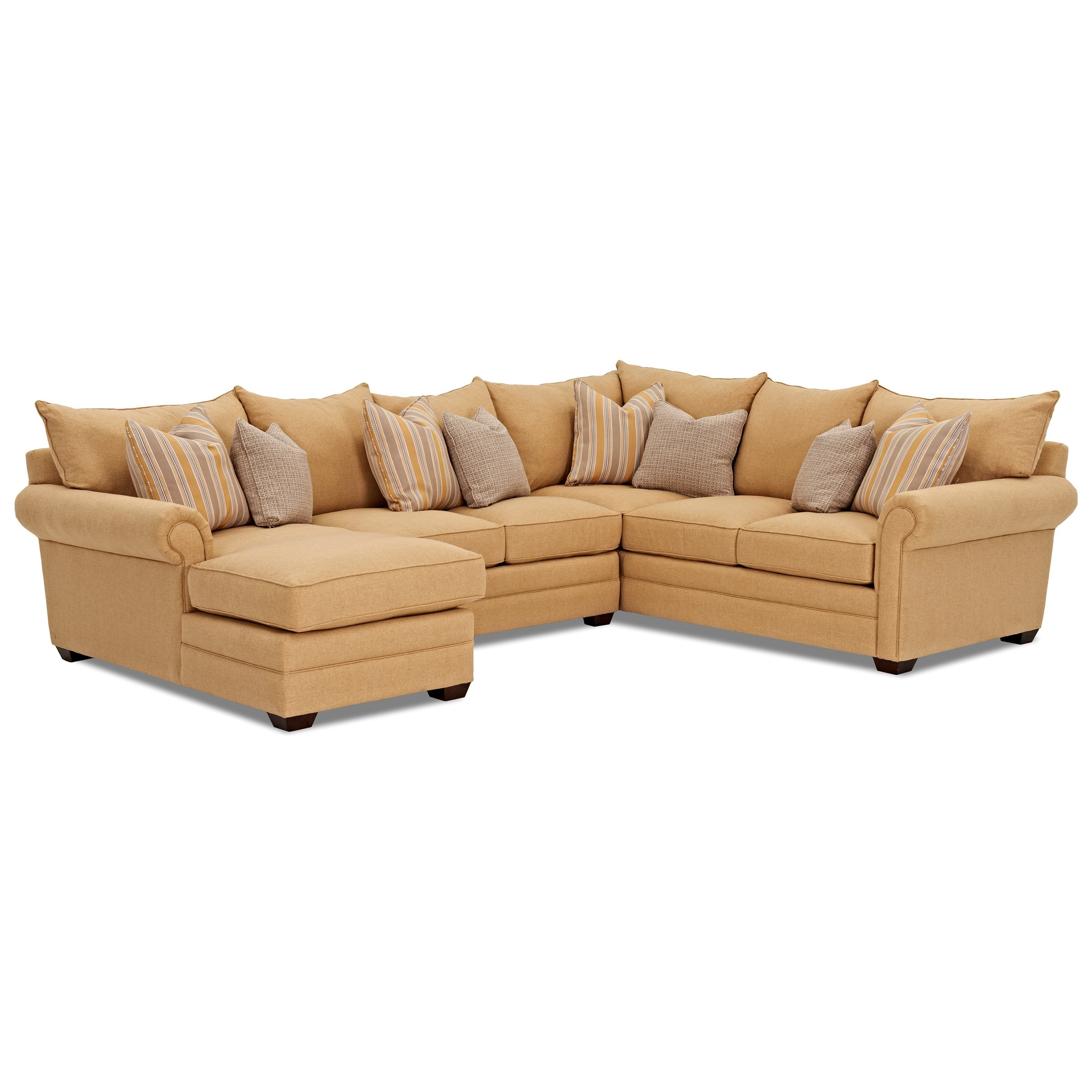 klaussner huntley four piece sectional sofa with laf chaise rh pilgrimfurniturecity com