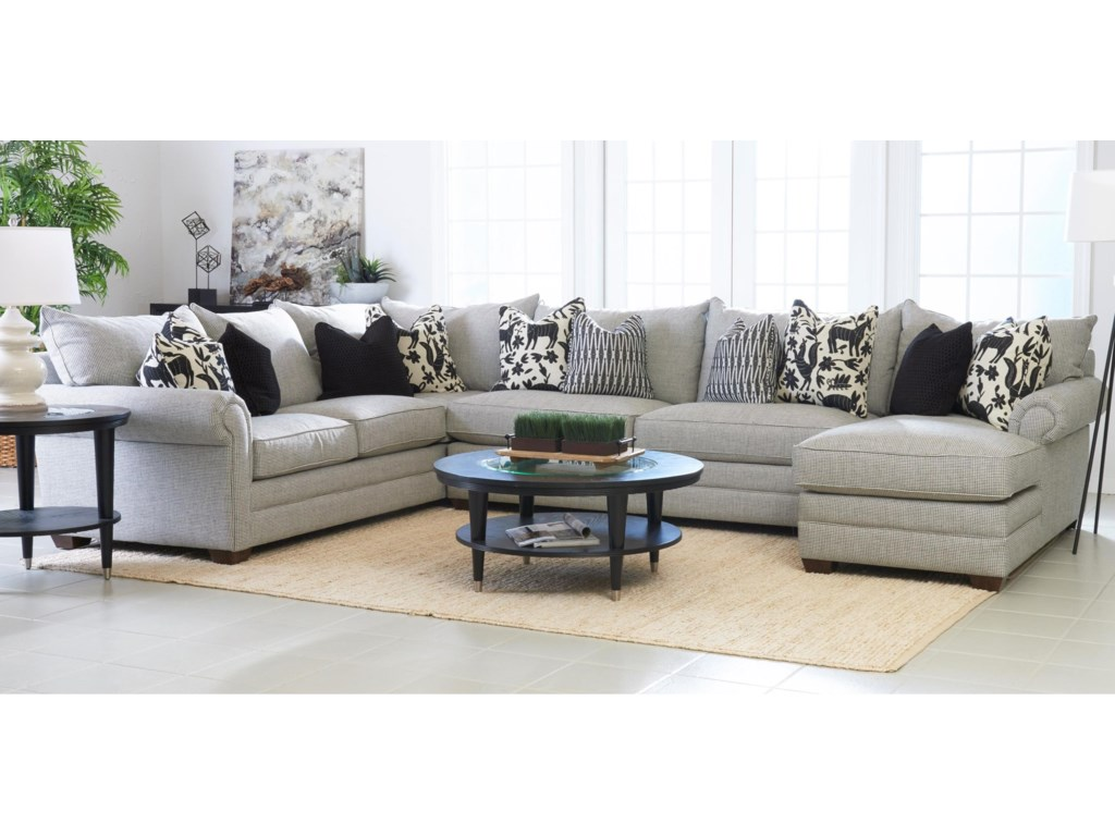 Elliston Place Huntley Three Piece Sectional Sofa with RAF Chaise ...