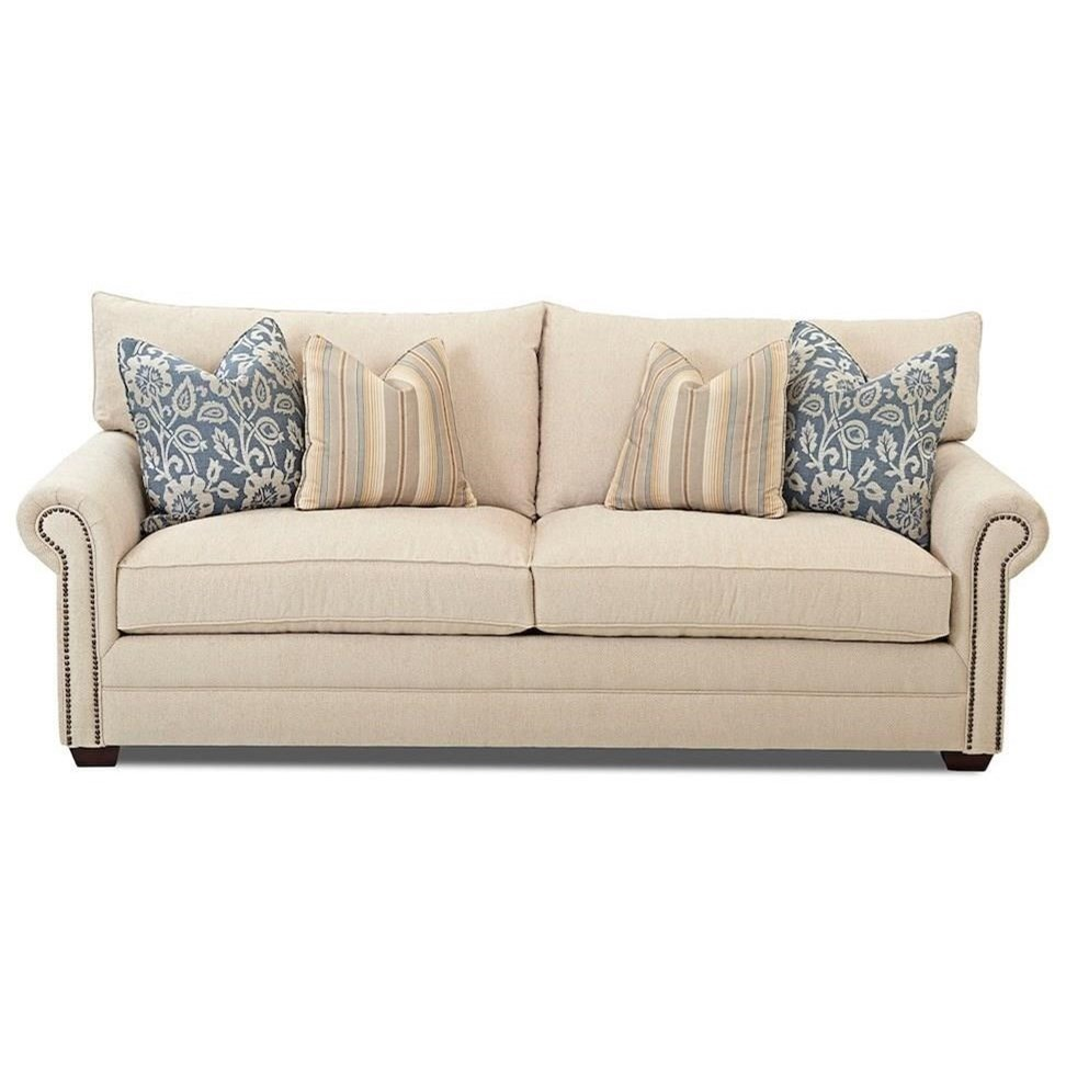 Two Cushion Sofa with Nailheads