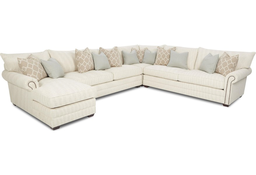Klaussner Huntley Traditional Sectional