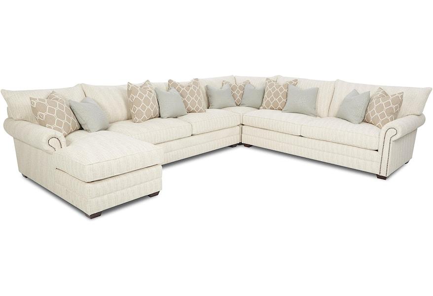 Huntley Traditional Sectional Sofa