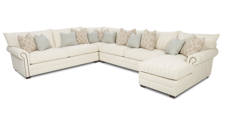 Klaussner HuntleyTraditional Sectional Sofa