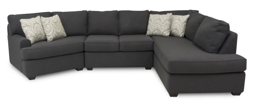 Metropia Camille Sectional Sofa With Left Facing Chaise Lounge  ~ Sectional Sofa Chaise Lounge