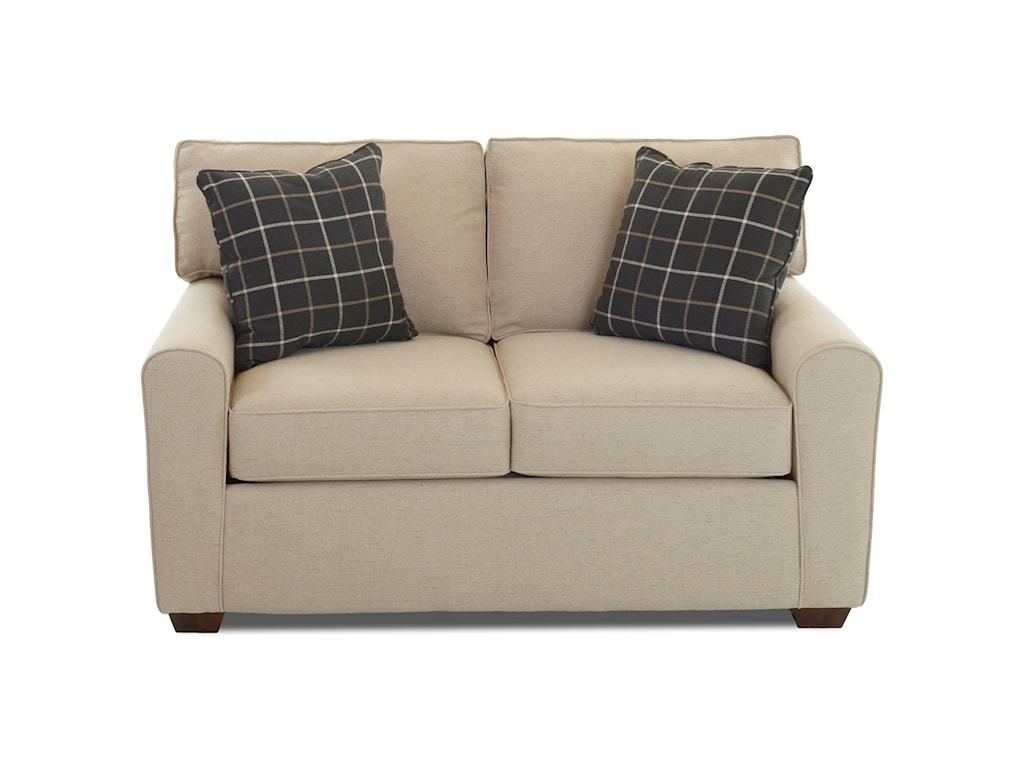 Klaussner HybridLoveseat w/ Box Cushions