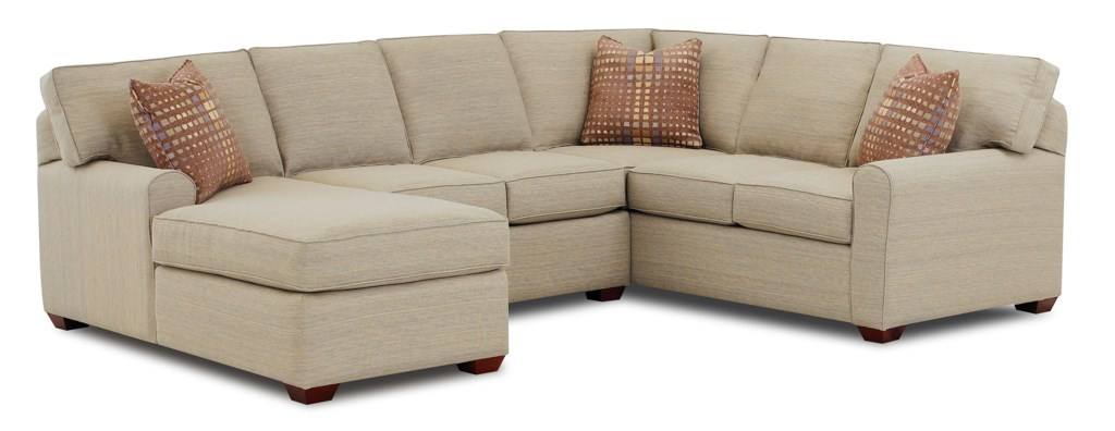 Elliston Place Hybrid Sectional Sofa With Left Facing Chaise Lounge