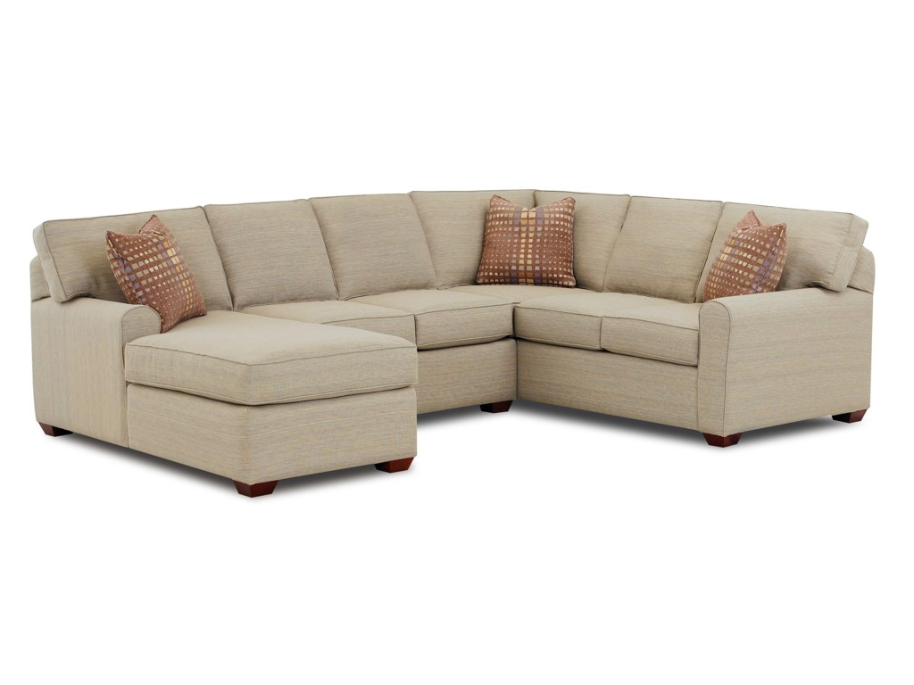Elliston Place Hybrid Sectional Sofa with Left-Facing Chaise Lounge ...