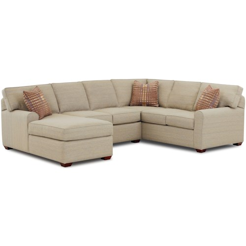 Klaussner Hybrid Sectional Sofa with Left-Facing Chaise Lounge