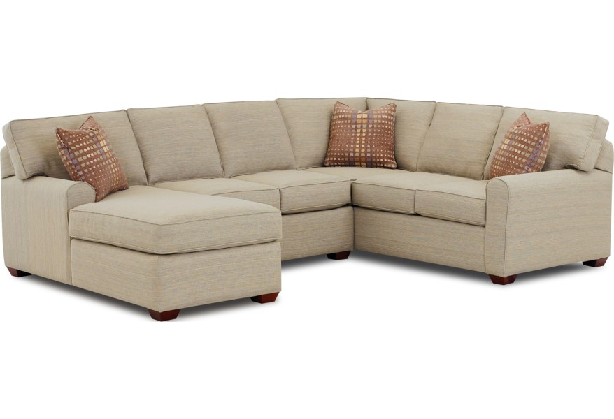 Klaussner Hybrid Sectional Sofa With