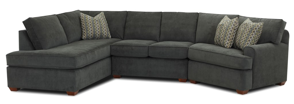 Klaussner Hybrid Sectional Sofa with Left Facing Sofa Chaise