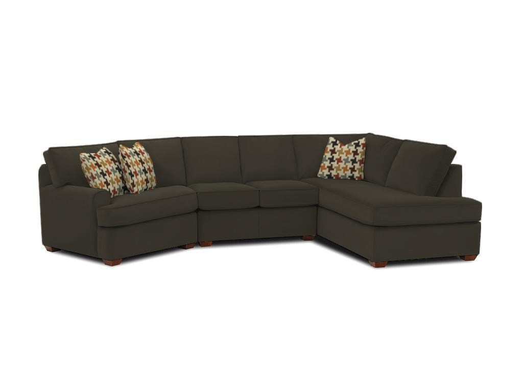 Klaussner Hybrid K FAB SECT Sectional Sofa with Right Facing