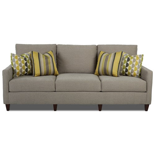 Klaussner Intyce Sophisticated Sofa with Track Arms