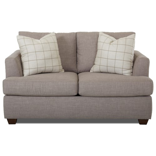 Klaussner Jack Casual Loveseat with Track Arms