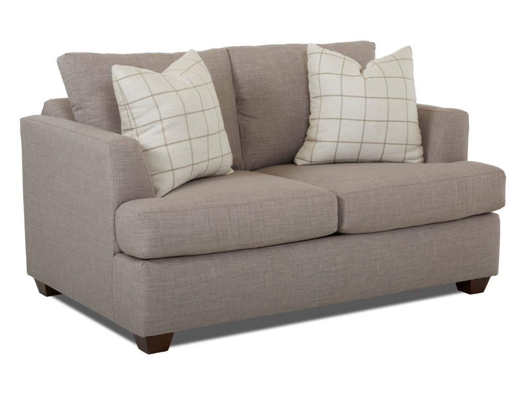 Klaussner Jack K49500 Ls Casual Loveseat With Track Arms Lapeer
