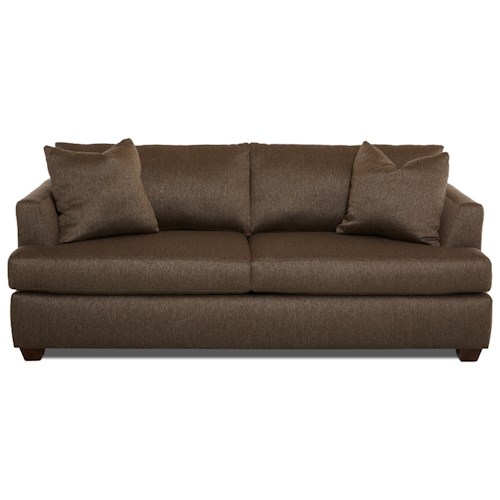 Klaussner Jack Casual Sofa with Track Arms