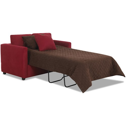 Klaussner Jacobs Casual Twin Sleeper Sofa with Enso Memory Foam Mattress
