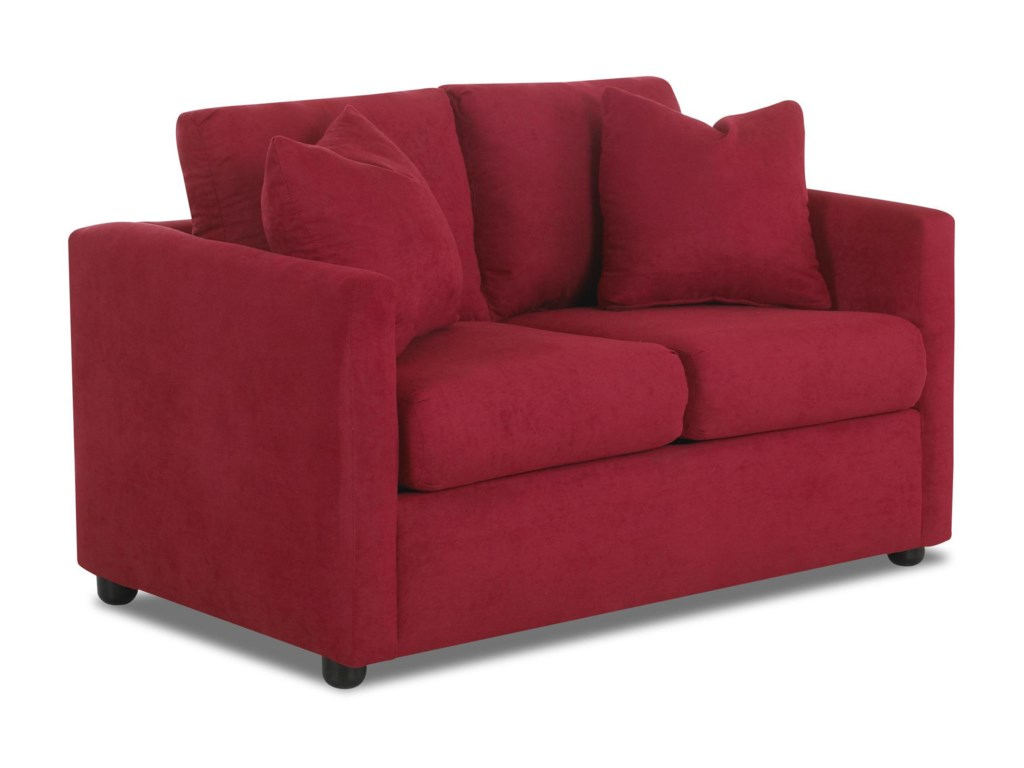 Klaussner JacobsUpholstered Stationary Love Seat