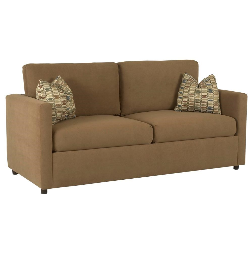 Klaussner Jacobs Casual Queen Sleeper Sofa With Enso Memory Foam Mattress