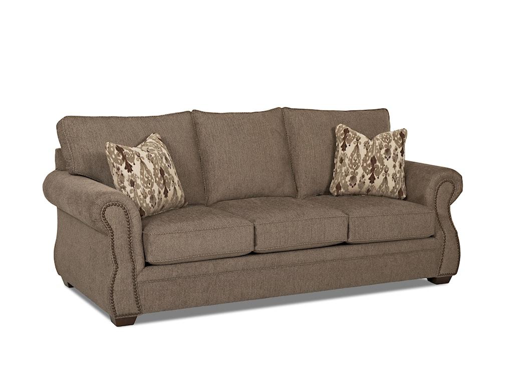 Klaussner JasperTraditional Air Coil Mattress Sleeper Sofa