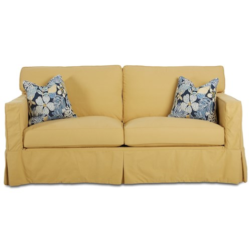 Klaussner Jeffrey  Air Coil Sofa Sleeper with Slip Cover