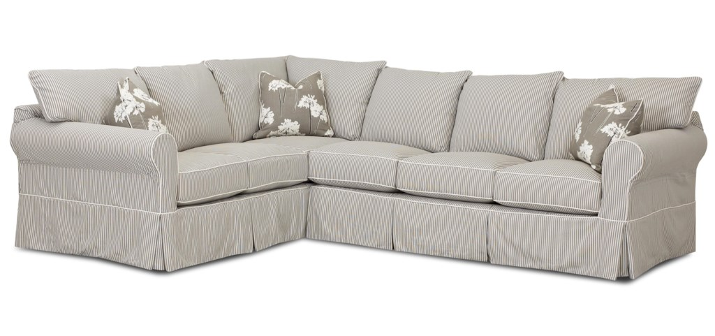 Klaussner Jenny Transitional 2 Piece Sectional Sofa Gill Brothers