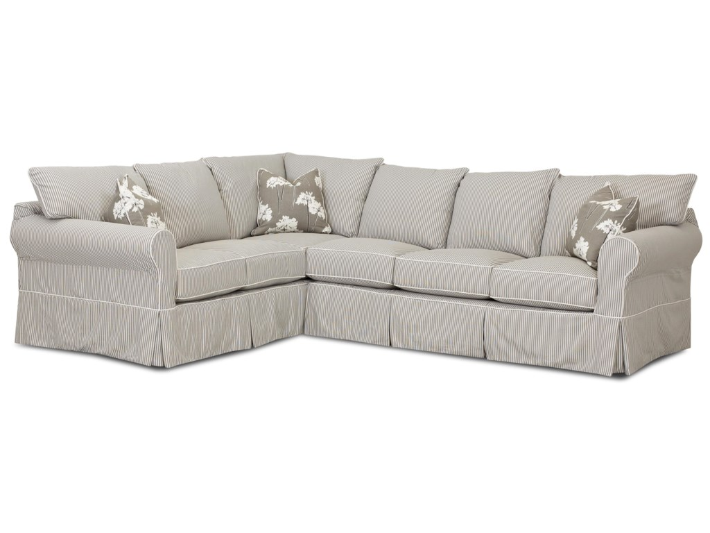 Klaussner JennyTransitional 2 Piece Sectional Sofa