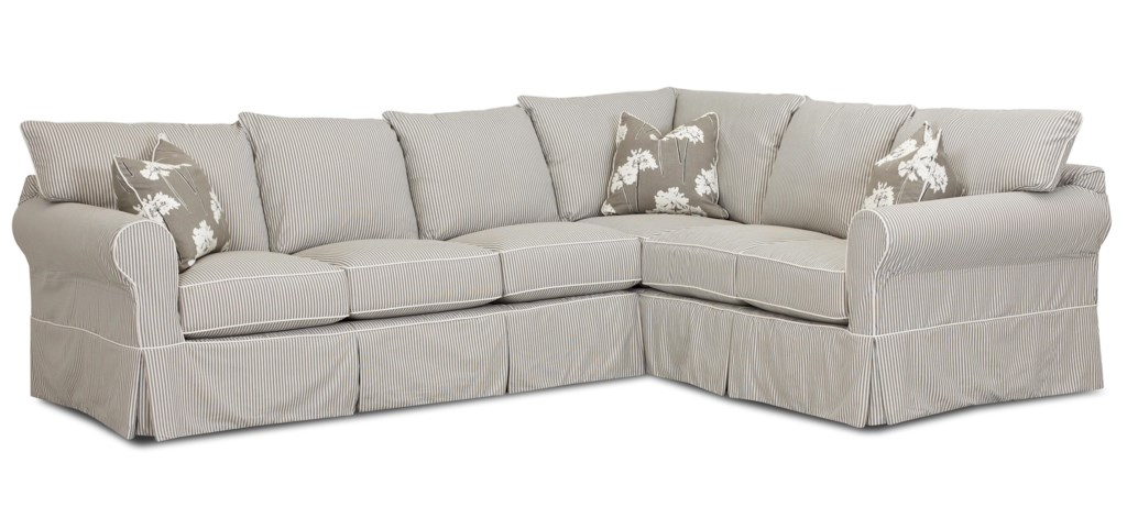 Klaussner Jenny Transitional 2 Piece Sectional Sofa Dunk Bright