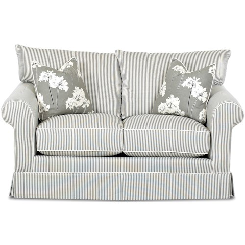 Klaussner Jenny Transitional Full Size Innerspring Sleeper Sofa with Rolled Arms