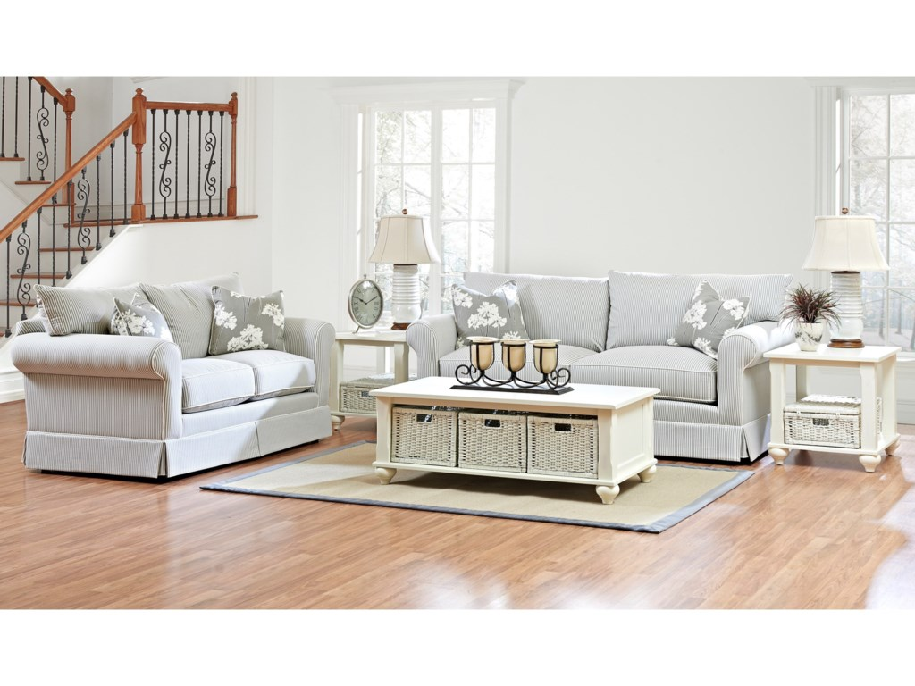 Klaussner JennyTransitional Stationary Sofa