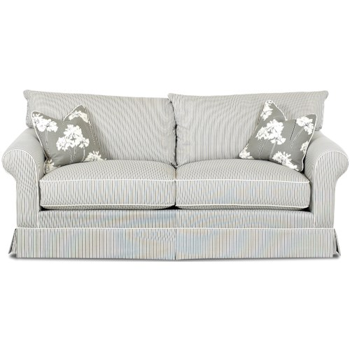Klaussner Jenny Transitional Sofa with Skirt