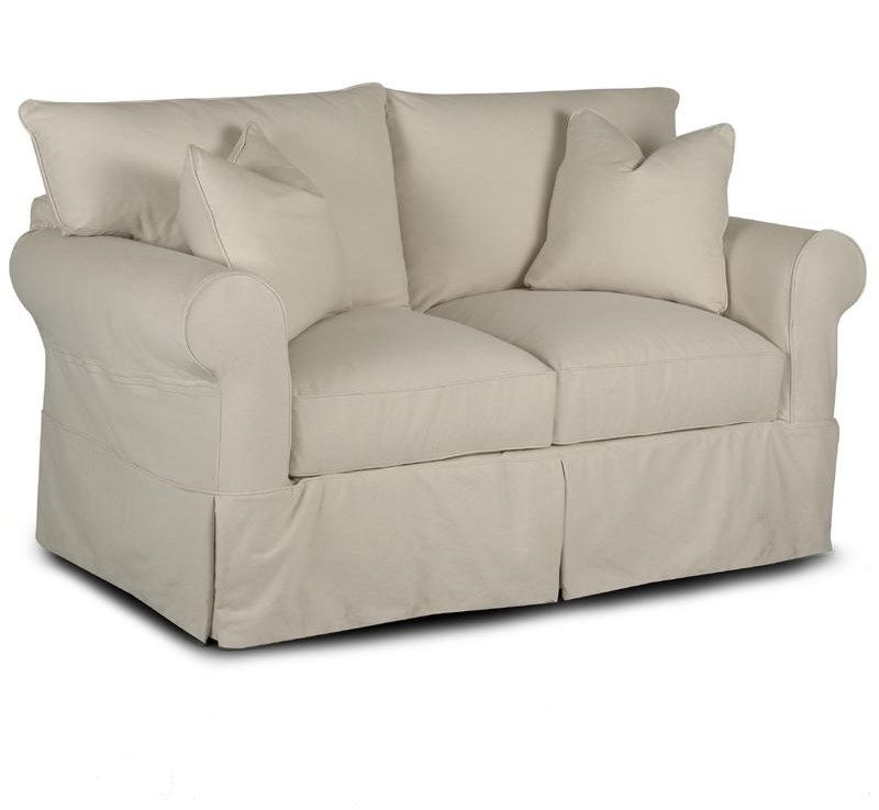 Klaussner JennyLoveseat with Rolled Arms
