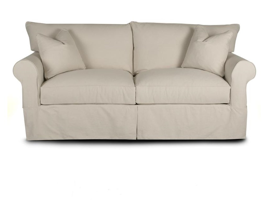 Jenny Slipcover Sofa With Skirt By Klaussner At Pilgrim Furniture City