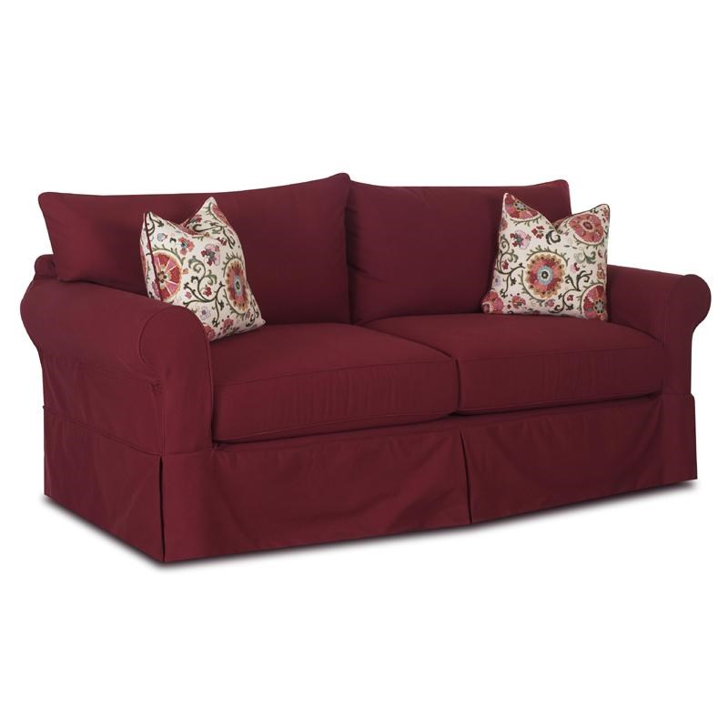 Klaussner Jenny Slipcover Sofa With Skirt Value City Furniture Sofas