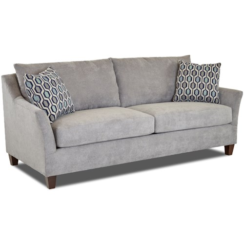 Klaussner Jericho Sofa with Flared Arms
