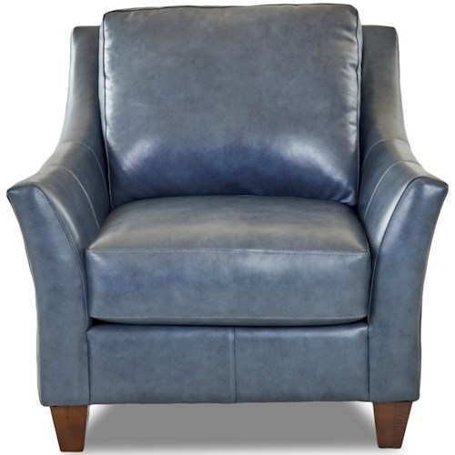 Klaussner Joanna Contemporary Leather Chair