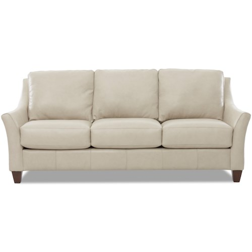 Klaussner Joanna Contemporary Leather Sofa