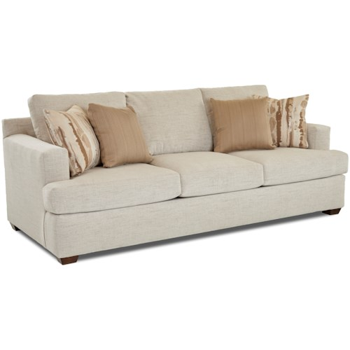 Klaussner Juniper Contemporary Sofa with Track Arms