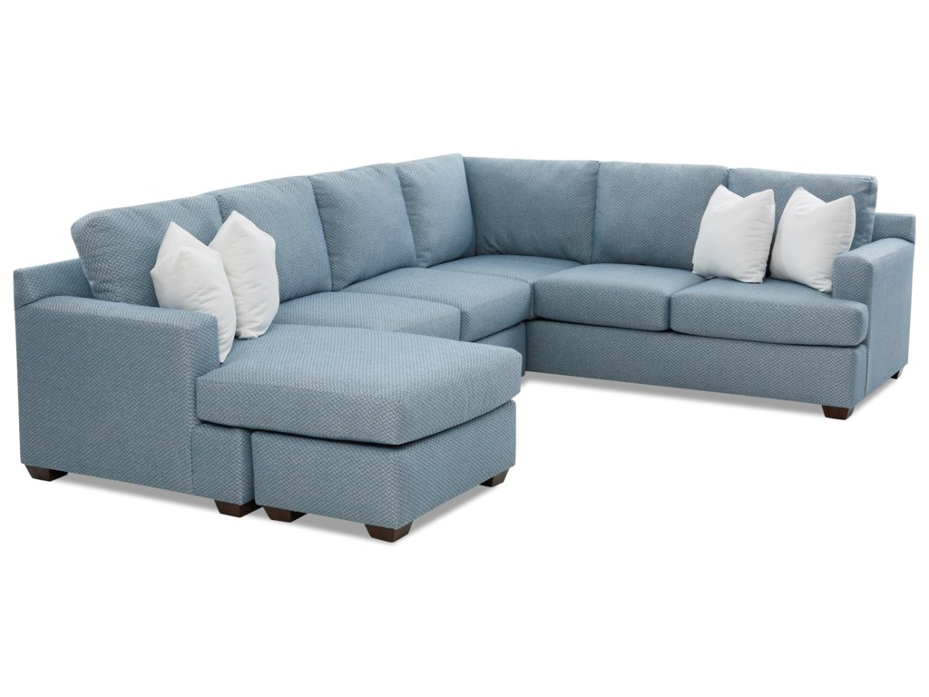 Klaussner Juniper5-Seat Sectional Sofa with LAF Chaise