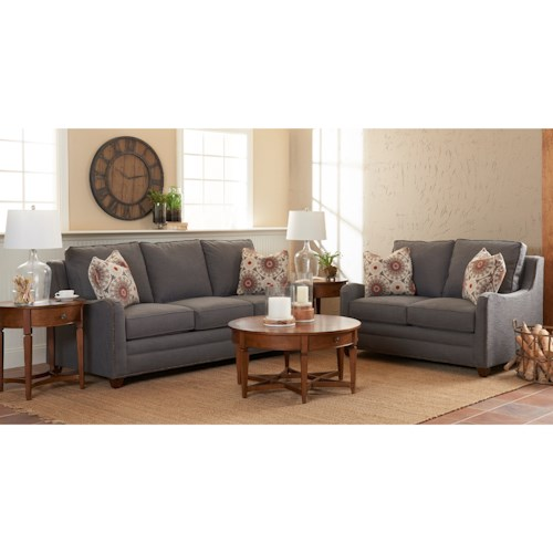 Klaussner Kyler Casual Living Room Group with Sofa Sleeper