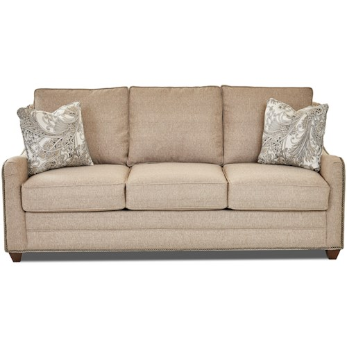 Klaussner Kyler Casual Sleeper Sofa With Enso Memory Foam Mattress