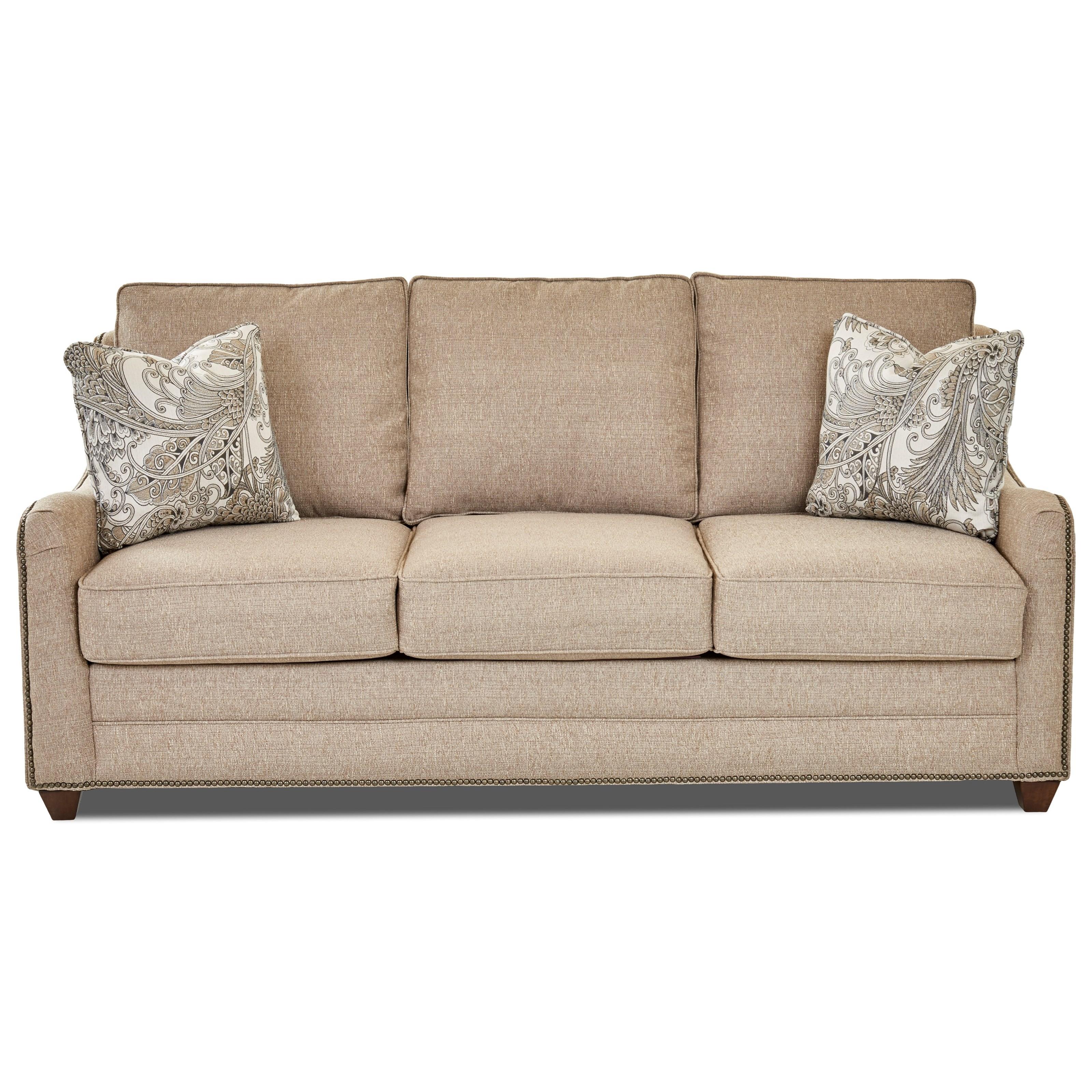Klaussner Kyler Casual Sleeper Sofa With Enso Memory Foam Mattress