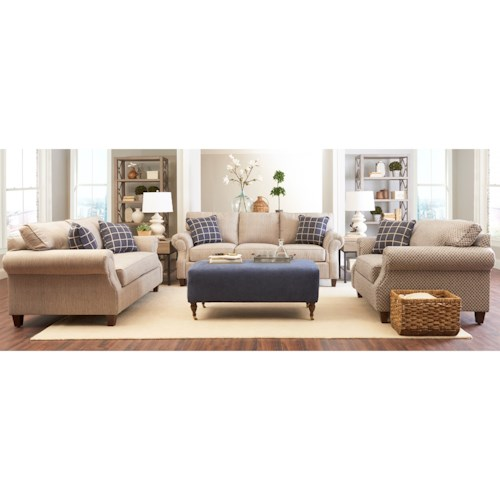 Klaussner Serena Casual Living Room Group