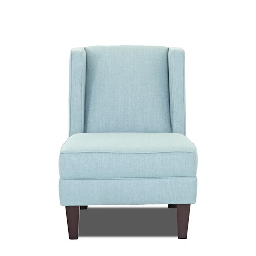 Klaussner Kaitlyn Transitional Armless Occasional Chair