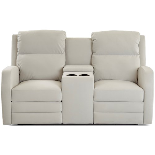 Klaussner Kamiah Power Reclining Loveseat with Cupholder Storage Console and USB Charging Ports