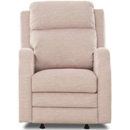 Klaussner Kamiah Power Rocking Reclining Chair with USB Charging Port and Power Headrest