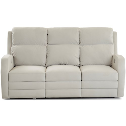 Klaussner Kamiah 77 Inch Power Reclining Sofa with USB Charging Ports and Power Headrests / Lumbar