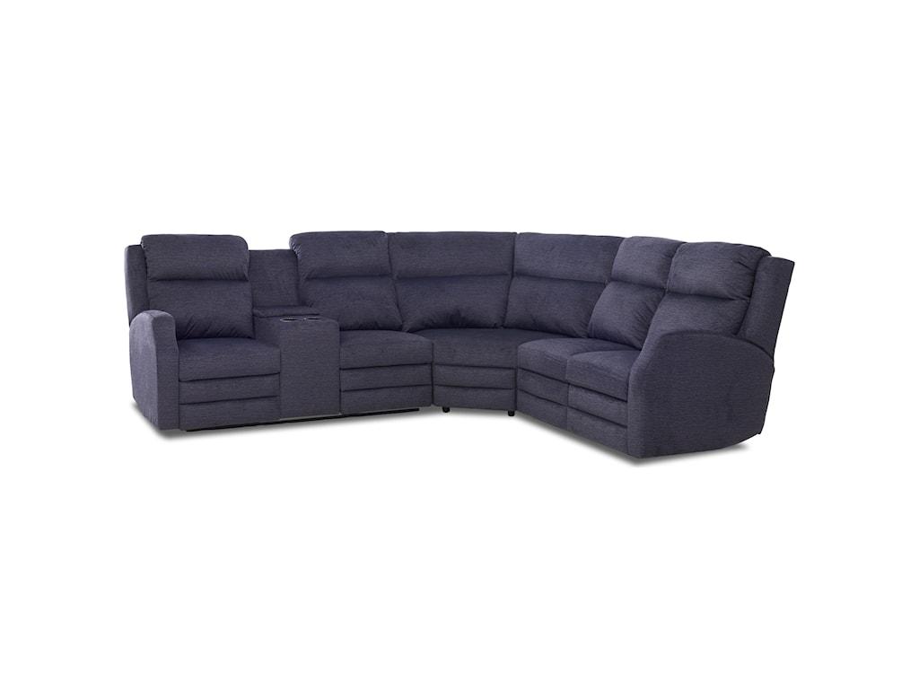 Klaussner Kamiah4 Seat Pwr Recl Sect Sofa w/ Pwr Head/Lumb