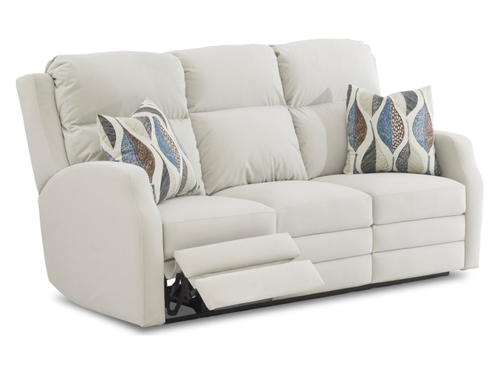 Klaussner KamiahReclining Sofa w/ Pillows