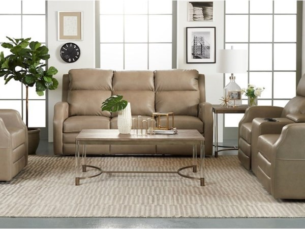 Power Reclining Living Room Group with HR